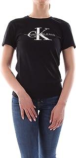 Calvin Klein Jeans Women's Core Monogram Logo Regular Fit Tee T-Shirt