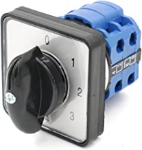 Baomain Cam Changeover Switch AC 660V 20A 8 Terminals 5 Position Mounting Rotary Select Switch