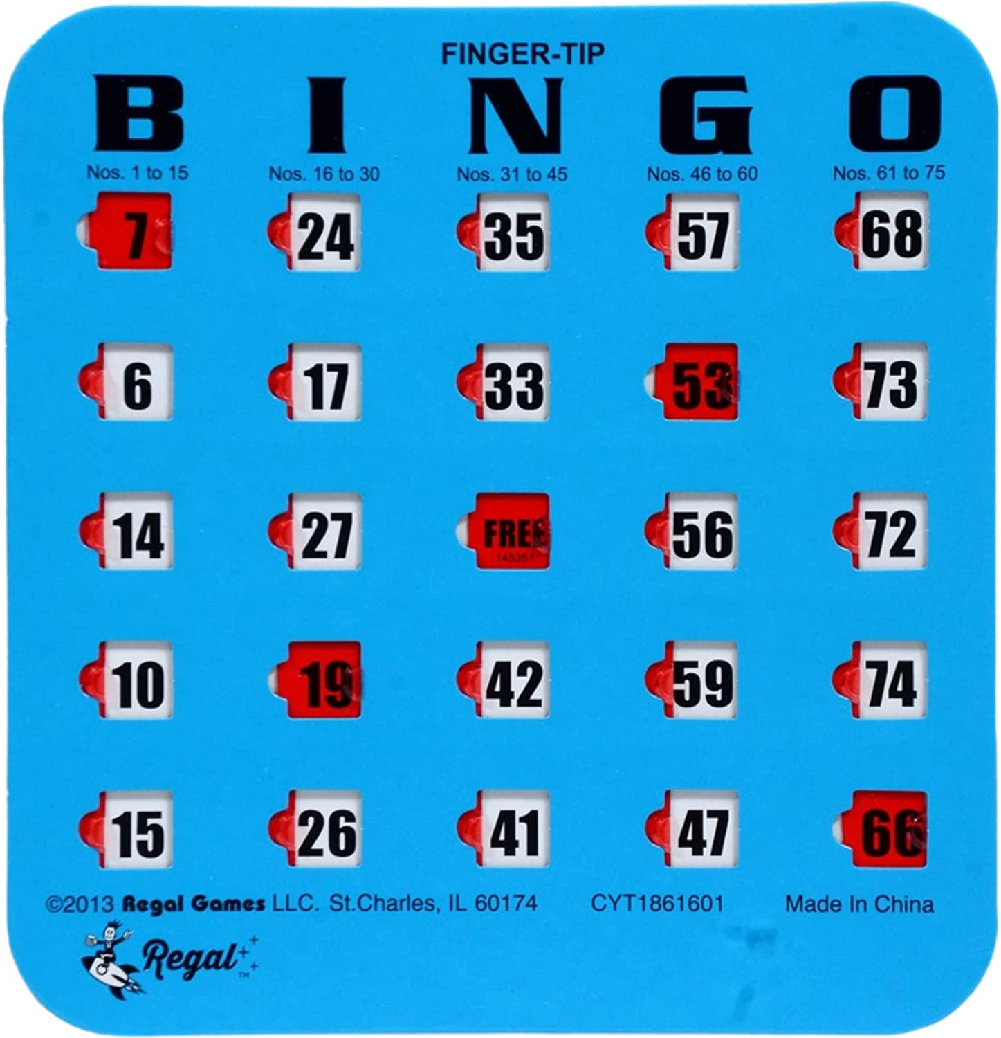 Regal Games Easy Read 4-Ply Slide Finger-Tip Max 70% OFF Bingo Free shipping anywhere in the nation Cards Shutter