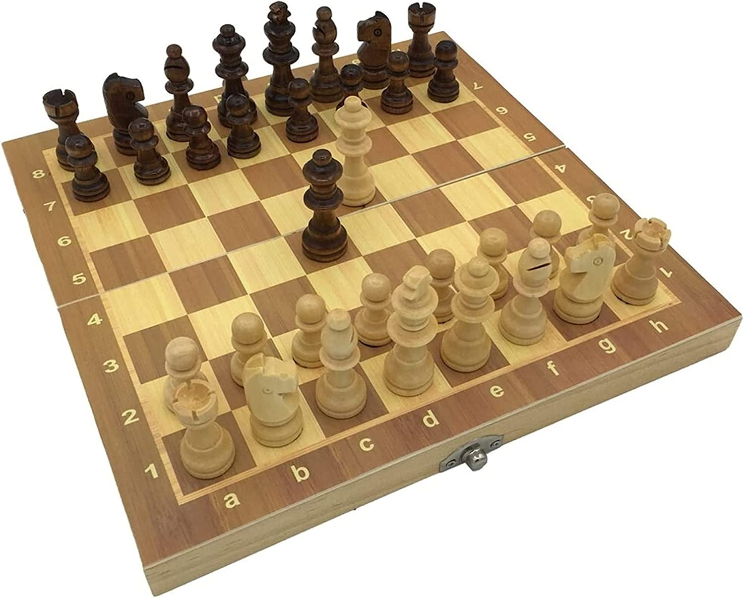 MTCWD Popularity Chess Set Folding Wooden Queen Board Size Max 80% OFF Extra Game