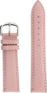 Tech Swiss LEA350-18SS Watch Band Genuine Leather Pink 18 millimeters