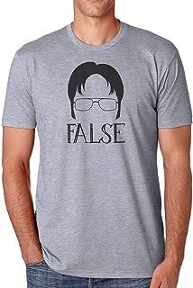 Dwight Schrute False Men's Athletic Fit Shirt