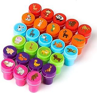 Kesote 26 Pièces Animal Stamp Enfants Assortiment Couleur Set Auto Encrage Timbres Jouet Cadeau (Animaux de la Ferme, Anim...