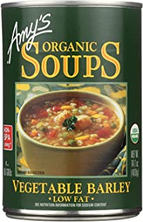 AmyS Kitchen Vegetable Barley Soup Low Fat 14.1 Oz -Pack of 12