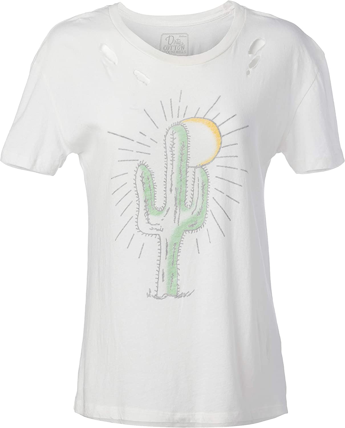 Goodie Two Sleeves Juniors Palm Springs Cactus Rays Graphic Tee