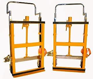 Wesco 272952 Hydraulic Lift Furniture Mover Set, Polyurethane Wheels, 3,950-lb. Load Capacity, 10