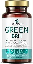 SOLVISAN GREEN BRN mit Grüner Kaffee, Grüner Tee, Mate, Ingwer, Guarana – 90 Kapseln