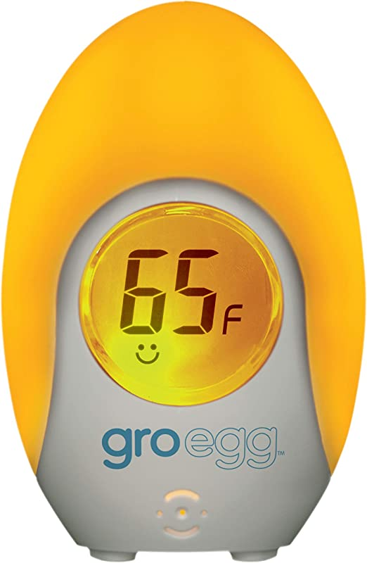 Tommee Tippee Groegg Digital Baby Nursery Room Thermometer With Temperature Color Indicator Gentle Night Light