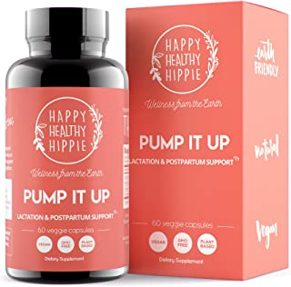 Pump It Up Lactation Supplement – Powerful Gentle All-Natural Herbal Breastfeeding Postnatal Vitamins Support Easier, Fast...