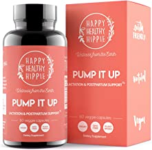 Pump It Up Lactation Supplement – Powerful Gentle All-Natural Herbal Breastfeeding Postnatal Vitamins Support Easier, Faster Let Down, Abundant Supply, Relaxation, Happiness and Colic Gas Relief
