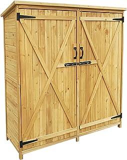 Armario de jardín con 2 puertas 1350x500x1540mm cobertizo,