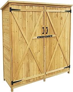 Armario de jardín con 2 puertas, 1400x500x1620, cobertizo,