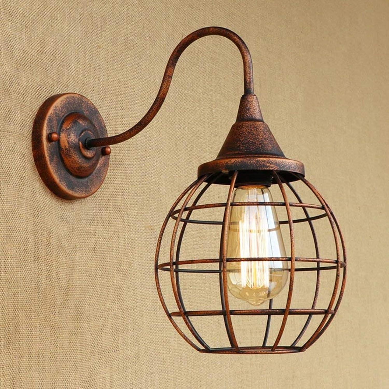Xiao Yun  E27 Wandleuchte Einfache Vintage Rust Wandleuchte Wohnzimmer Bar Cafe Flur Loft Lampen