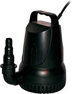 Alpine Corporation 2100GPH Hurricane Heavy-Duty Pump - Outdoor Decor Accessory - Great for Fountains, Waterfalls, and Water Circulation