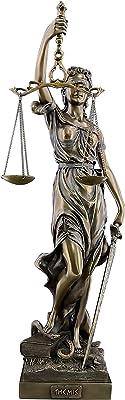 qwqqaq con Los Ojos Vendados Lady Justice Estatua, Romano Diosa del Derecho Escultura Resina Museo De-Grado Colección para El Bufete De Abogados Abogado Regalo-d 12x11x47cm(5x4x19inch): Amazon.es: Hogar