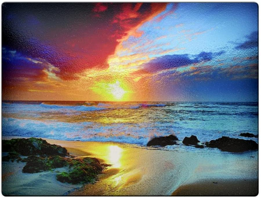 Beach Sunsets - Sale SALE% OFF Board Mail order Cutting Glass