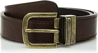 Dockers Big Boys' Reversible Casual Belt with Brass Buckle