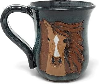 MudWorks Pottery Carved Horse Head Mug