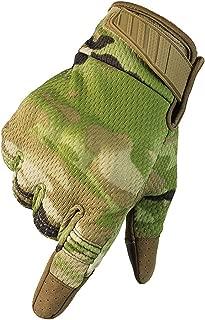 Military Ba Men's Camo Deer Suede Palm and Fleece