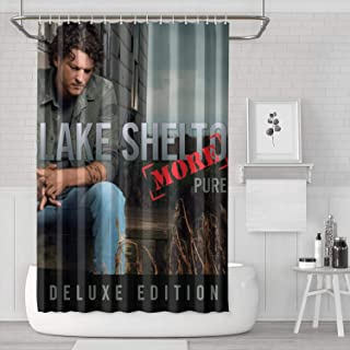 TyLerCcs Polyester Fabric Shower Curtain with Hooks Rust Proof,Washable,Water Resistant,Waterproof} Bathroom Decoration Cozy Decor - 72 X 72 Inches, Rock Album Cover
