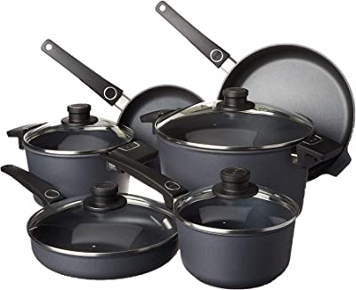 WOLL Diamond Plus/Diamond Lite 10-Piece Cookware Set with Diamond Reinforced Nonstick Coating