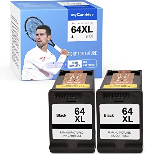 wholesale MYCARTRIDGE 2021 Remanufactured Ink Cartridge Replacement for HP 64XL 64 Fit Hp Tango x, Envy Photo 6220 6230 6252 6255 6258 7120 7134 7155 7164 7855 7858 2021 7820 7822 7830 (2 Black) outlet sale