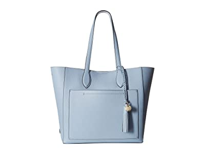 Cole Haan Piper Leather Tote (Zen Blue) Tote Handbags