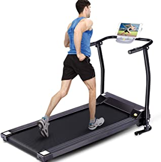 FUNMILY Electric Folding Treadmill for Home Workout, Ultra-Quiet & Shock-Absorbant, Portable Exercise Running Machine for Small Spaces with 12 Programs & LCD Screen
