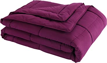 Lotus Home Down Alternative Blanket With Microfiber Cover and Water and Stain Resistance, King, Fig