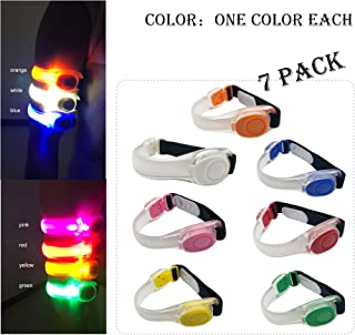 LED Armbands Slap Bracelets Wristbands Flashing Sports Pack of 4/7 Glow Party Supplies for Lives, Festivals Running Partie...