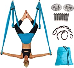Aerial Yoga Swing Yoga Hammock Kit for Antigravity Exercise with Adjustable Handles Extension Straps