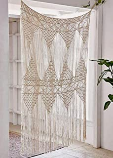 Flber Macrame Curtain Large Wall Hanging Bohemian Wedding Decor, 50