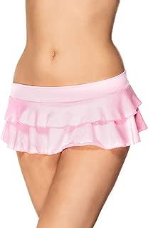 Women's Flirty Double Layered Ruffle Mini Skirt