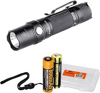 Fenix LD12 320 Lumens EDC LED Flashlight with Fenix Rechargeable Battery and LumenTac Battery Organizer