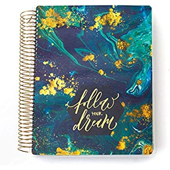Paper House Productions PL-2009 Blue Marble 12 Month Planner, Undated, Laminated Cover