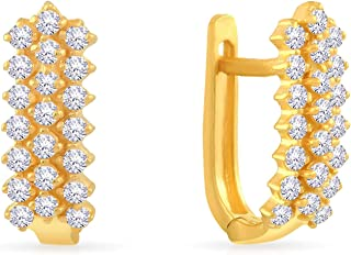 Malabar Gold and Diamonds 22KT Yellow Gold Clip-On Earrings for Women