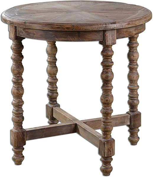 Uttermost 24346 Samuelle Wooden End Table Brown