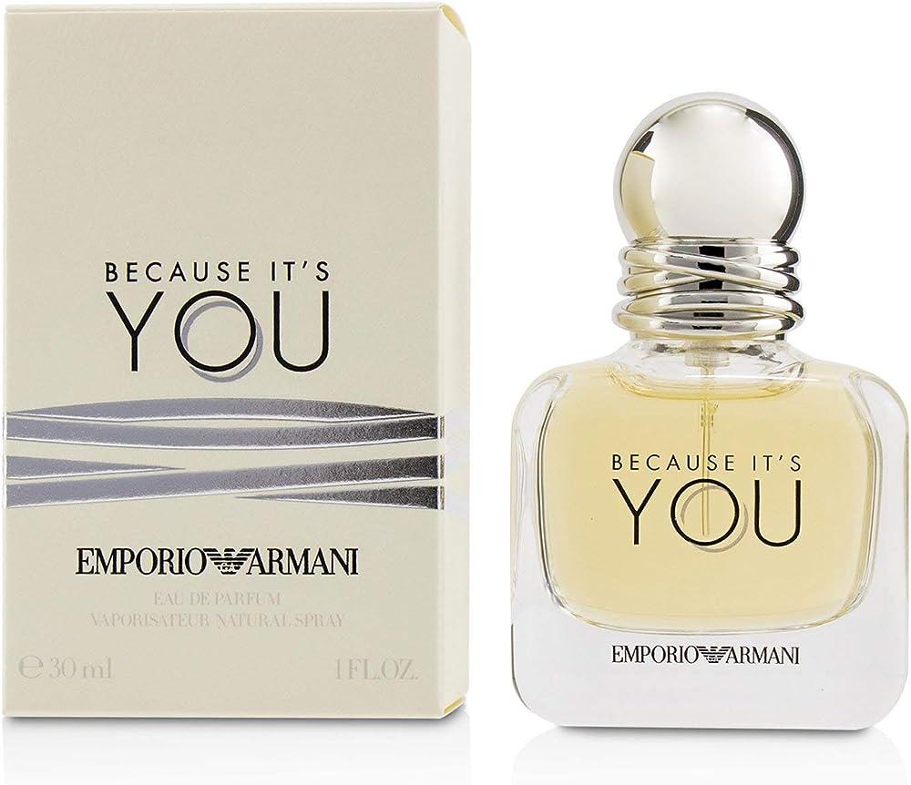 Giorgio armani because it`s you,eau de parfum,profumo per donna,30 ml 56179