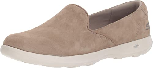Skechers Wohombres GO Walk LITE Glam Loafer Flat, Taupe, 10 M US