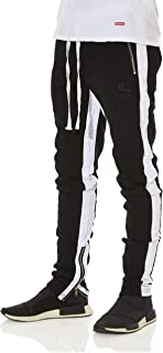 Cha$e Clothing Striped Track Pants with Zipper
