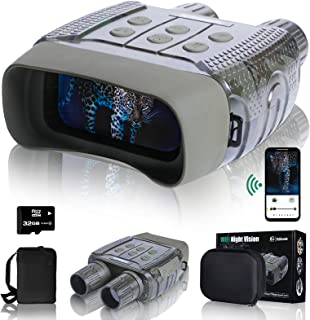 """XGeek Night Vision Digital Goggles Scopes Binoculars for Adults Hunting - with WiFi,2.4"""" LCD Screen 4X Zoom, HD Image & 96..."""