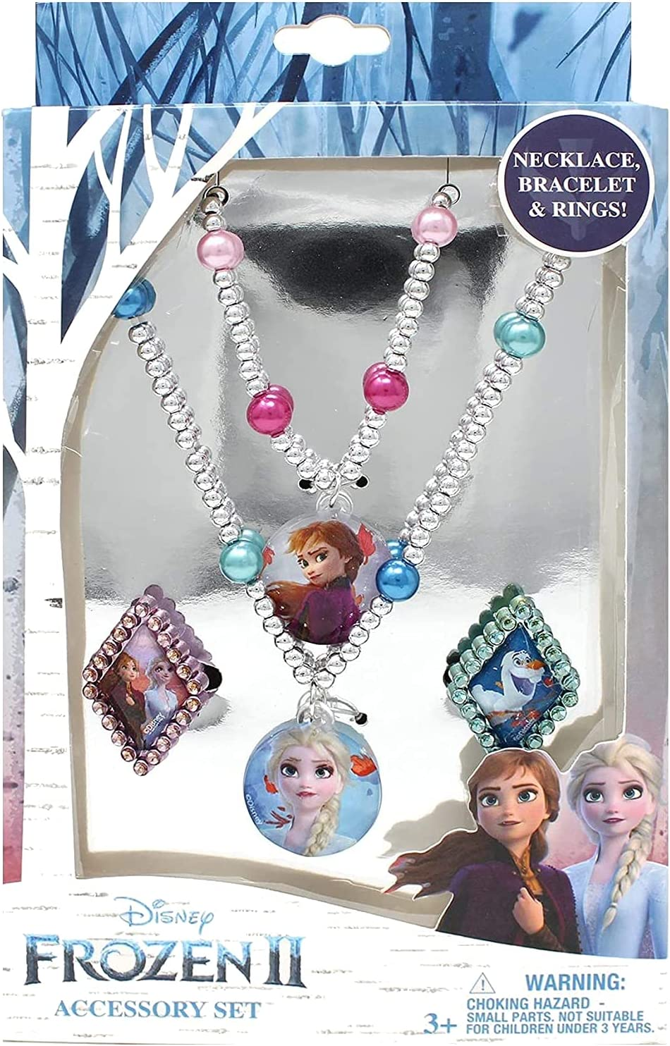 Frozen 2 Girls 4 Piece Costume Toy with R Set Box Online limited Indefinitely product Silver Jewelry