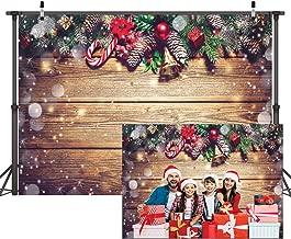 Dudaacvt 7×5ft Christmas Backdrop Christmas Decoration on Wooden Backdrops Adult Child Portrait Photo Studio Booth D216