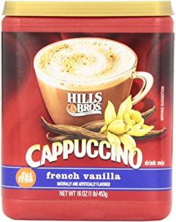 Hills Bros. Instant Cappuccino Mix, Fat Free French Vanilla Cappuccino Mix – Enjoy Coffeehouse Flavor from Home – Fat-Free Cappuccino with Sweet Notes (16 Ounces)