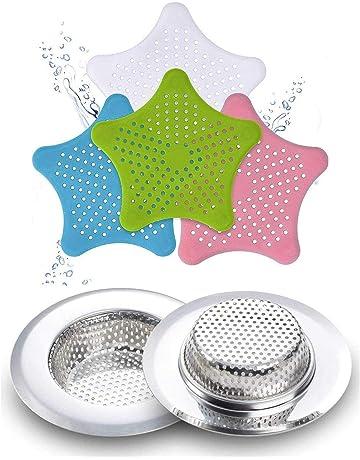 Vasca Amiispe Filtro di Scarico per docce lavandino e lavandino Filtro di Scarico in Silicone e Tappo per Capelli per Doccia