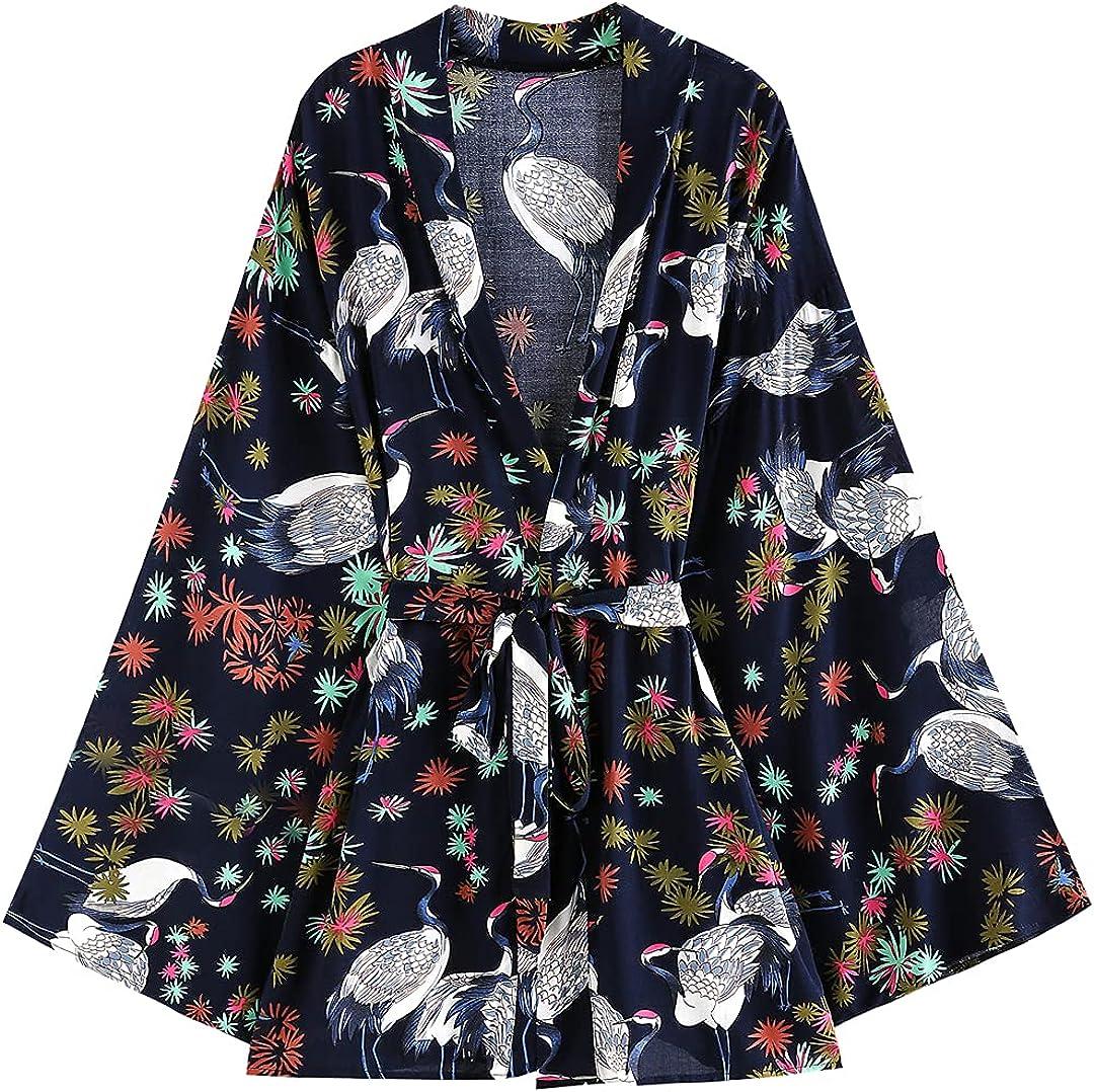 Vintage Kimono Robes Cover Ups Casual Streetwear Women's Rayon Cotton Beach Covers