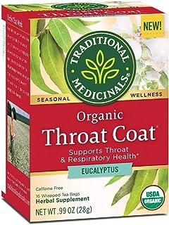 Best Traditional Medicinals Organic Throat Coat Eucalyptus Seasonal Tea (Pack of 6), Supports Throat Health, 96 Tea Bags Total Review
