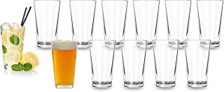 Bulk Classic Premium Beer Pint Glasses 16 Ounce – Set Of 12 Highball Cocktail Mixing Glass – Perfect for Cold Beverages, S...