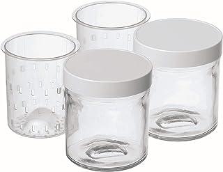 comprar comparacion Cuisinart YM402E Set de 2 x 230 ml tarros de plástico transparentes para queso
