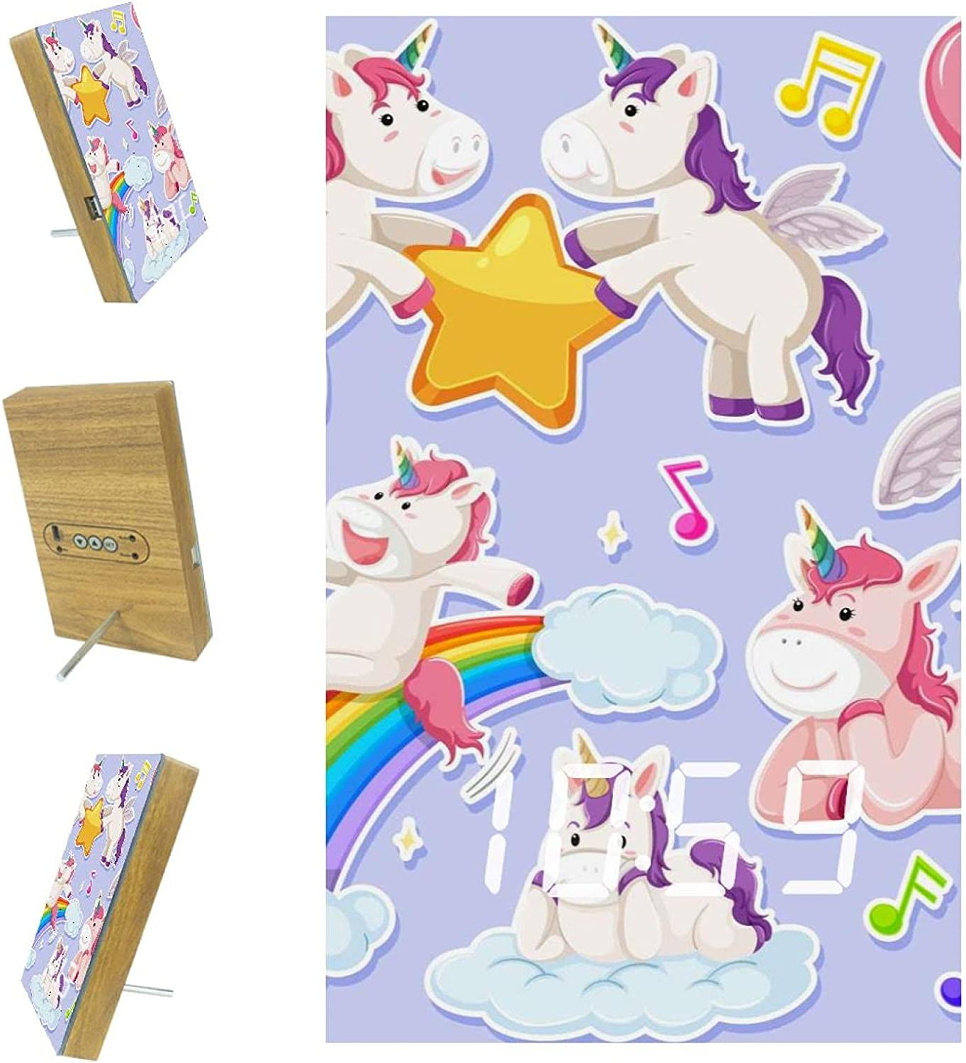 Deluxe imobaby Alarm Clock Boston Mall Unicorn Character Digital USB with LED